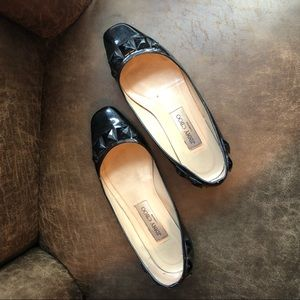 Jimmy Choo AUTHENTIC black studded flats